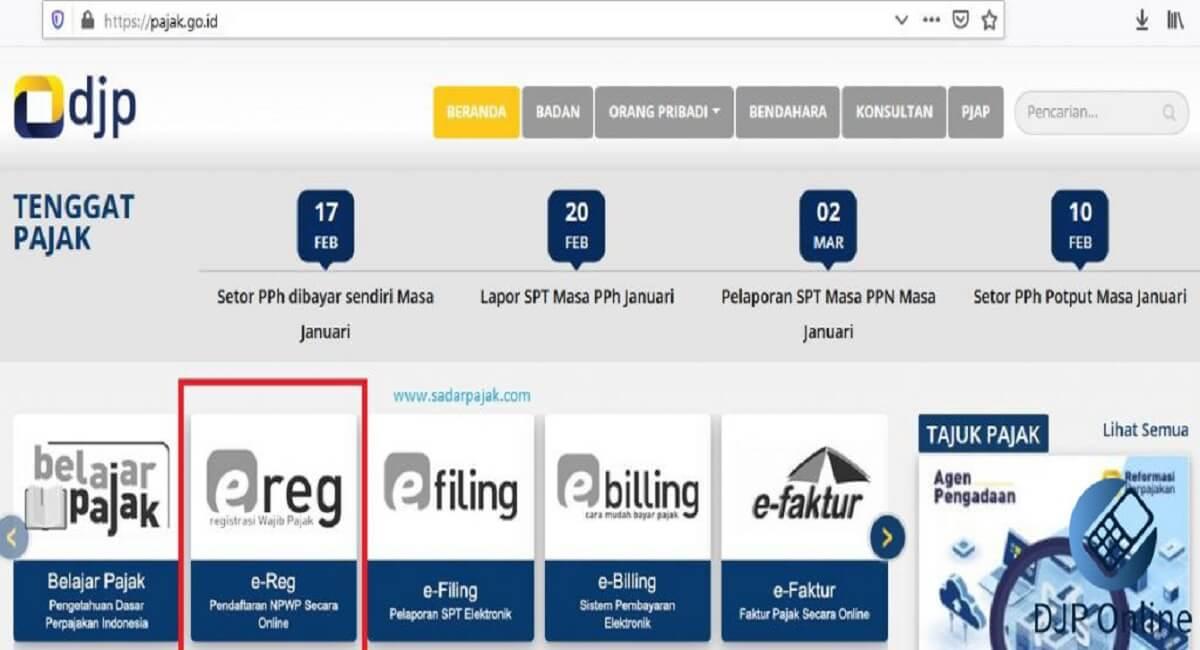E-Registration Pajak 2020