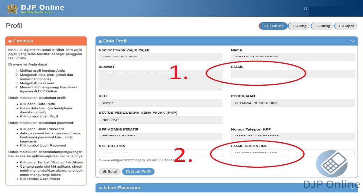 eFiling Online Registration