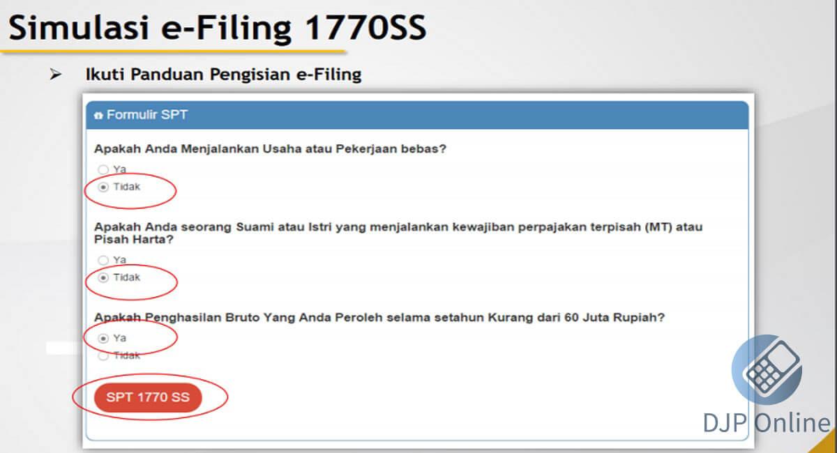 eFiling Online 1770SS