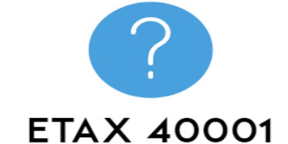 ETAX-40001